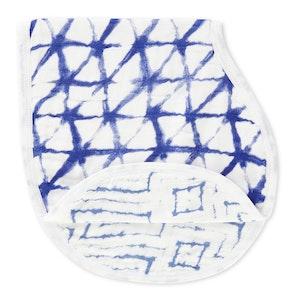 aden + anais indigo silky soft burpy bib single