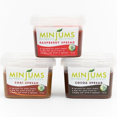Minjums Healthy Spreads- Variety Pack (3X180g)