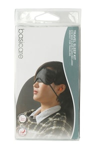 Basic Care Travel Sleep Kit Eye Mask with Ear Plug
