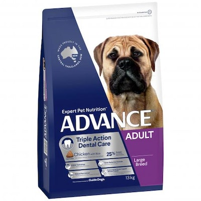 Advance Large Breed Triple Action Dental Care Chicken Dry Dog Food 13kg