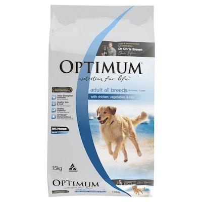 Optimum Dry Dog Food Adult Chicken,Vegetables & Rice 15kg