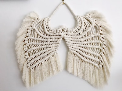 """Sculptures of the Earth Macramé wall hanging """"Angel wings"""""""