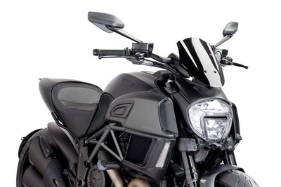 Ducati Diavel 2014-2018 Puig New Generation Adjustable Screen (Black)