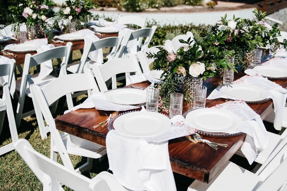 Elegant Baby Shower Event Table Setting