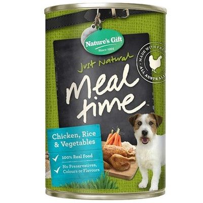 NATURES GIFT Chicken Rice & Vegetables Dog Food 12 x 700g
