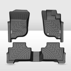 KIWI MASTER 3D TPE Floor Mats Liner fit Mitsubishi Pajero Sport MY 2015-2020