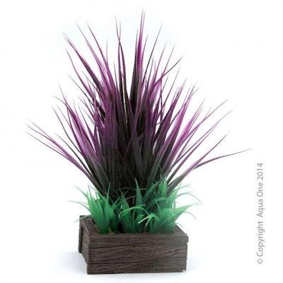 Aqua One Planter Box Square - Red Green Grasses
