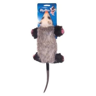 My M8s Latex Head Possum Interactive Play Dog Chew Toy
