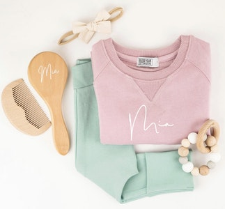 Personalised Name Sweater Blush Pink - Fancy Font