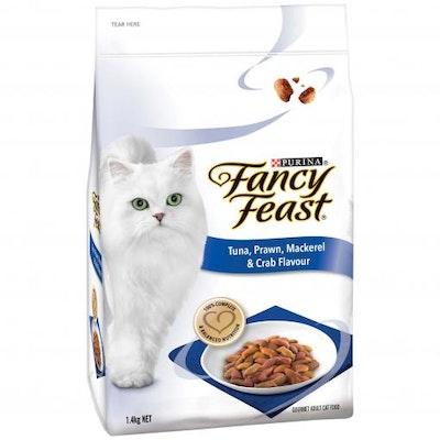 Fancy Feast Tuna, Prawn, Mackerel & Crab Adult Dry Cat Food 1.4kg