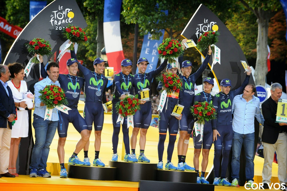 Tour de France teams classification CorVos 1
