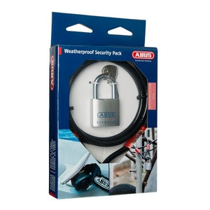 ABUS Combo Pack 80TI/50 Padlock and Cobra 10/200 Cable