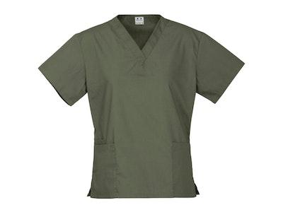 Boutique Medical Premium Women's V-Neck Scrubs Top Ladies Hospital Dentist Nurse Uniform - Sage