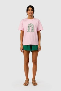The Wolf Gang Rays Embroidered Tee - candy