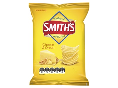 Smith's Crinkle Cut Cheese & Onion Potato Chips 170g