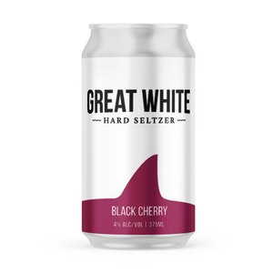 Great White Hard Seltzer Black Cherry Can 375mL 4 Pack
