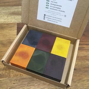 Eco Crayons Blocks - 6 Colour Box: Plant Based Natural Crayons