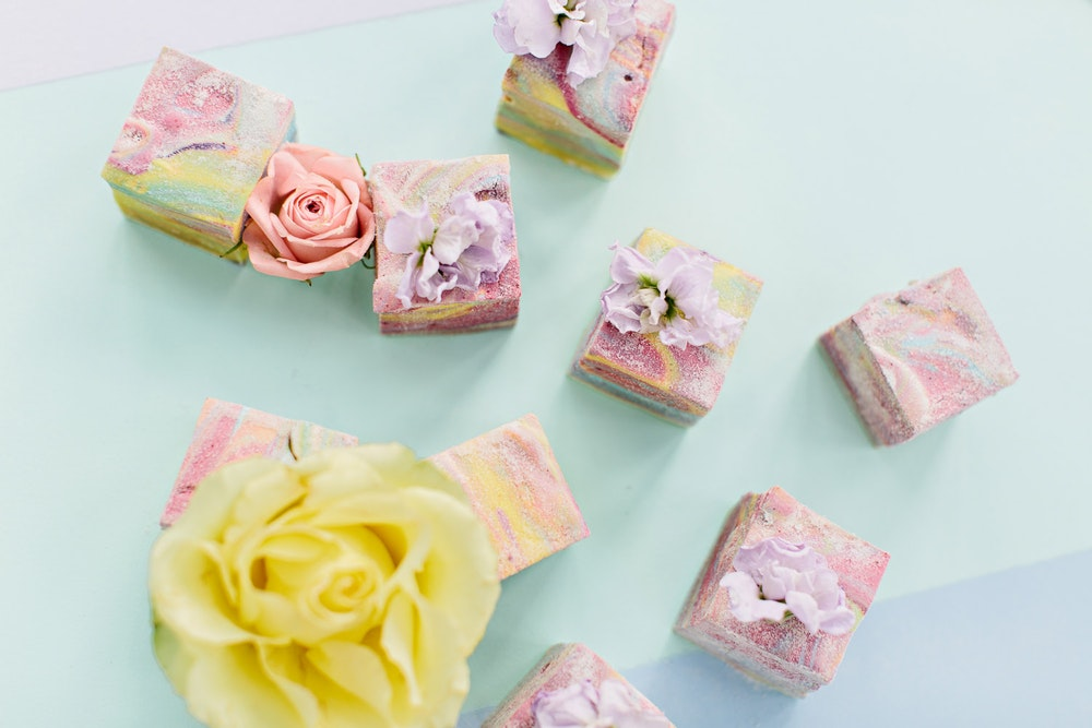 Aere Confections Rainbow Marshmallows Wedding