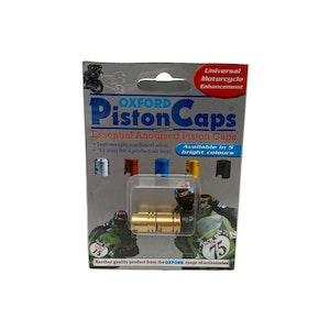 Pair Piston Valve Caps - Gold