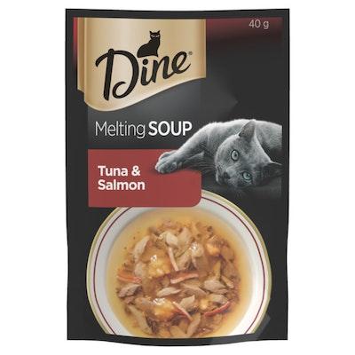 Dine Melting Soup Cat Food Tuna & Salmon 40g x 12