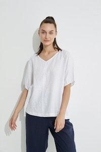 Tirelli - Bishop Sleeve Top - White
