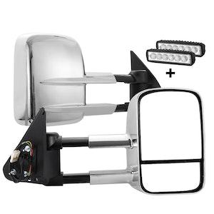 SAN HIMA SAN HIMA Pair Towing Mirrors for Nissan Patrol GU Y61 1997-2016