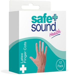Safe + Sound Latex Finger Cots 12 Packs