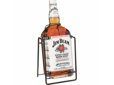 Jim Beam White Label Bottle & Cradle 4.5L