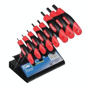 SP Tools T Handle Hex Key Set SAE 8pc