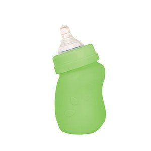 green sprouts Baby Bottle made from Glass w Silicone Cover-5oz-Green-0mo+