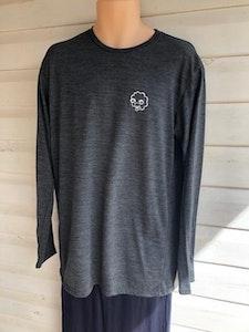 Men's Long Sleeve Pyjama Top    100% Merino Wool Charcoal