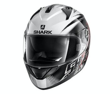 Shark Ridill Finks Helmet (White/Black/Red)