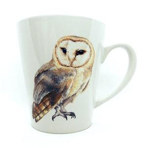 artbrush mug 'Olive Owl'