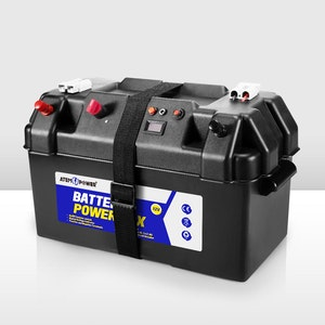 Battery Box 12V Portable Deep Cycle AGM Universal Camping Large Marine