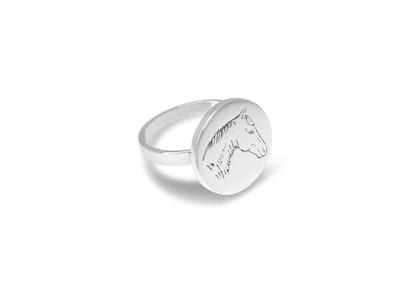 Breeze Pony Disc Ring