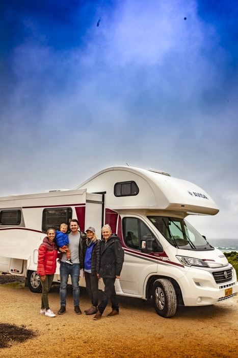 Johanna Beach Family Avida Motorhome by Cameron Damon Media