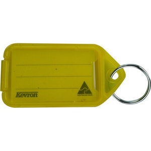 Kevron ID30 Giant Plastic Key Tags – 25 Pack - Yellow