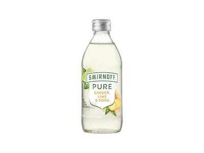 Smirnoff Pure Ginger Lime & Soda Bottle 300mL