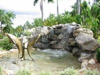 Coconut Palms entrance Fountain