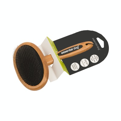 Essential Dog Natural Bamboo Slicker Brush for Dogs and Cats