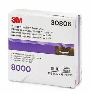 """6"""" Trizact Hookit Foam Disc, 8000G - 30806"""