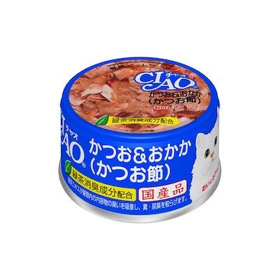 INABA CIAO Skipjack Tuna With Dried Bonito Can 85G