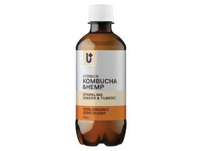 Utonic Beverages Kombucha + Hemp Ginger & Turmeric 12 x 350mL