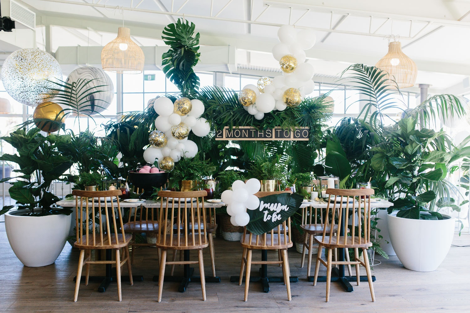 Lush Greenery Baby Shower Tropical Baby Shower Lenzo