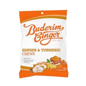Buderim Ginger Turmeric & Ginger Chews 50g