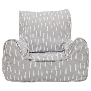 Play Pouch Raindrops Bean Chair - Grey