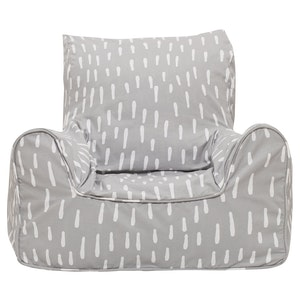 Play Pouch Raindrops Bean Chair - Grey