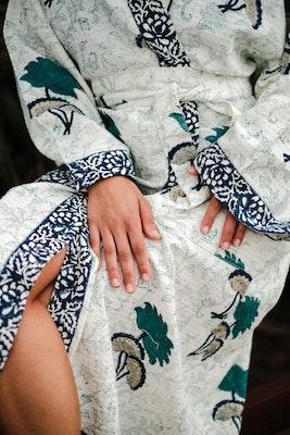 Khwaab The Dream Hand Printed Tropical Bathrobe