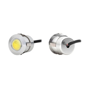 Flush Mount Plug Type White LED Light - Silver