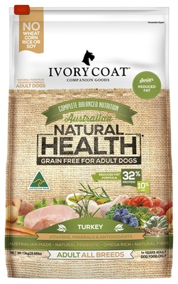 IVORY COAT Grain Free Dry Dog Food Low Fat Turkey 2kg